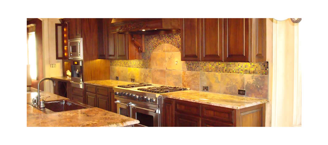 Stove, Hood, Counters, Cabinets